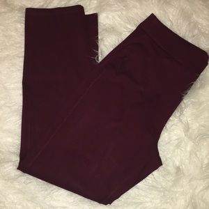 NWOT CHICOS TRAVELERS BURGUNDY PANTS